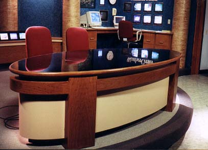 T.V. News Desk    seats 4